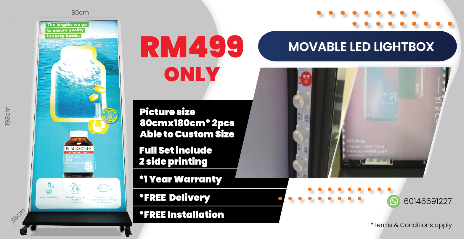 Movable LED Lightbox Full Set