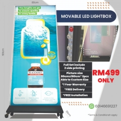 Movable LED Lightbox Full Set With Printing