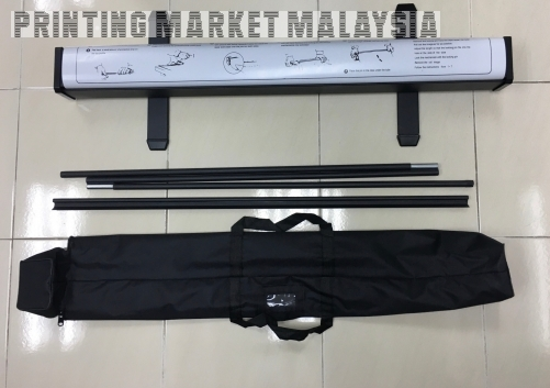 Black Roll Up Stand 80*200cm